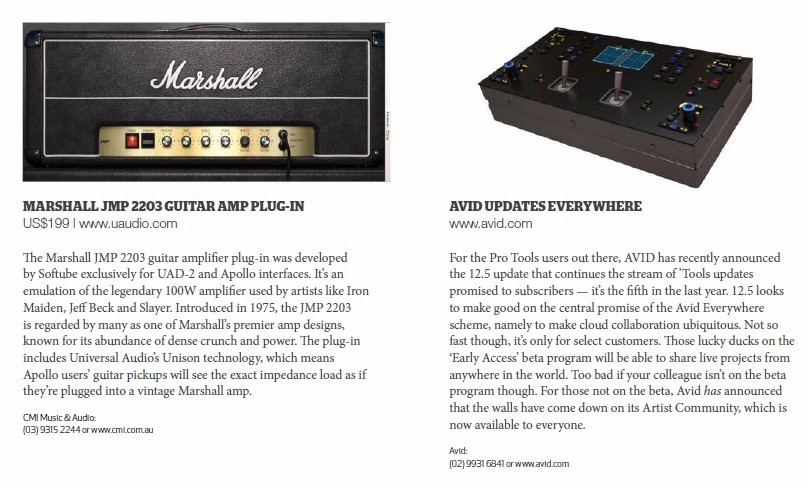 Marshal JMP 2203 Guitar AMP Plug-in<br />AVID Updates everywhere