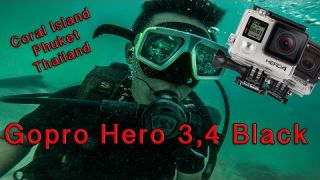 Gopro Hero 3 4 Black Diving - 4K 30fps (Coral Island, Phuket, Thailand)