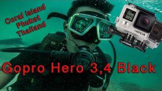 Gopro Hero 3 4 Black Diving - 4K 30fps (Coral Island, Phuket, Thailand)